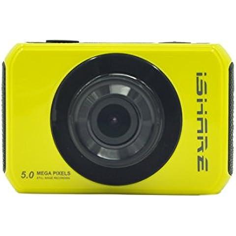 MaMaison007 iShare S200 HD deporte cámara de acción 1080p videocámara táctil de 2.0 pulgadas-amarillo