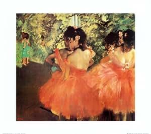 Reproduction d'art 'Les danseuses roses', de Edgar Degas, Taille: 50 x 40 cm