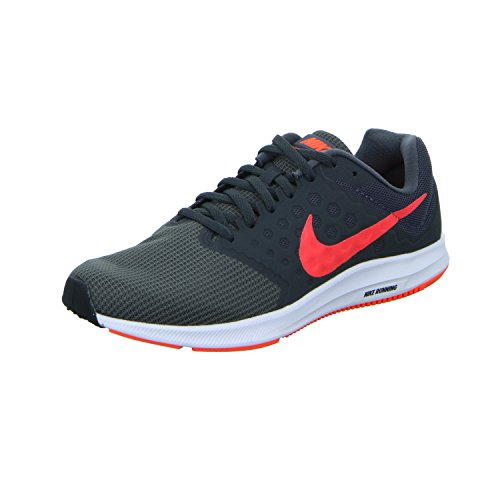 Nike Downshifter 7, Chaussures de Course Homme, Red 648 Multicolore (Dark Grey/total Crimson/anthracite/black)