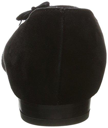 TAPODTS Damen Victoria 6.1 Geschlossene Ballerinas Schwarz (Black)