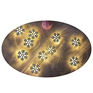 iStary Weihnachtsfest Led Lichterkette Warmweiß Für Innenräume Und Für Draußen Dekoration Schneeflocke Geformte Schöne Deko In Innen Und Außenbereich