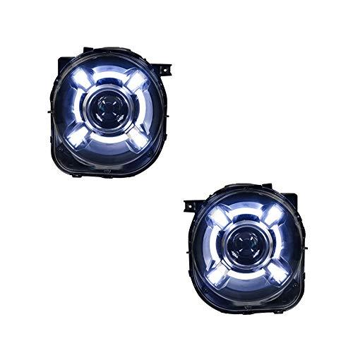 Kit di 2 pezzi per fari Renegade 2015-2017 con lenti bi-xeno a doppio fascio Xenon HID con luci di marcia diurna a LED