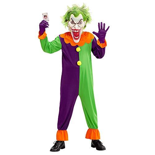 Halloween Kostüm Clown Böser - Widmann 07319 Kinderkostüm böser Clown, Jungen, Bunt, 164 cm