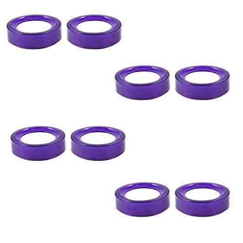 Yohii 8 Stück lila Kunststoff Runde Fall Schwamm Finger Nass Zählen Bargeld - Nicht Fettende Formel