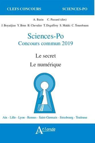 Sciences-Po, concours commun : Le secret, le numérique