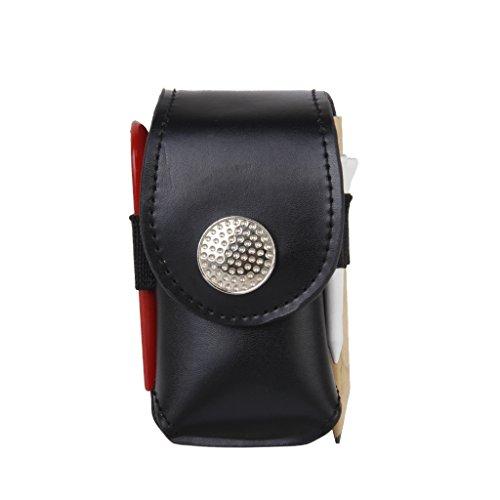 Mini-clip Cuir Artificiel Portable Sur Balle De Golf Sac Pochette Porte Cale 2 Balles Golfeur Aide Don D'outil Noir