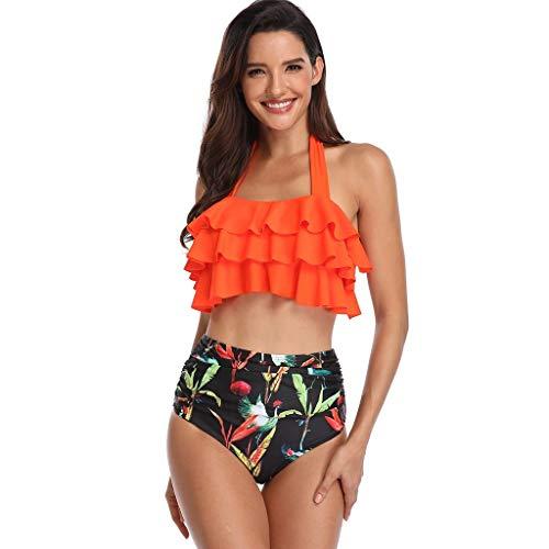 Asalinao Badeanzug Damen Push up bademode bauchweg figurformend Bandeau große Größen Rückfrei S-XXL