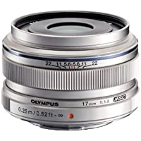 Olympus M.ZUIKO DIGITAL 17mm 1:1.8 Lens - Silver