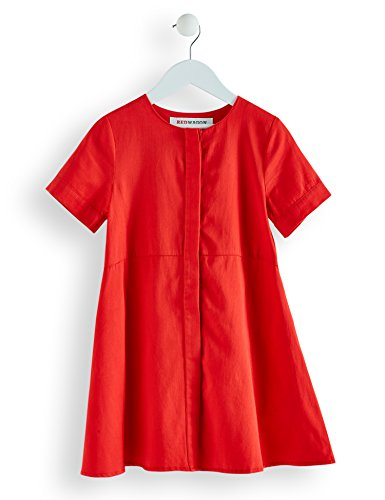 RED WAGON Mädchen Kleid in A-Linien-Form, Rot (Coral), 104 (Herstellergröße: 4 Jahre)