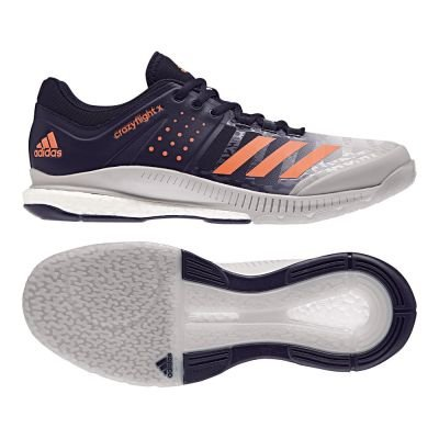 adidas Herren Crazyflight X Volleyballschuhe, Blau (Legend Ink/Hi-RES Orange/Grey Two), 44 EU (Volleyball Adidas Herren Schuhe)
