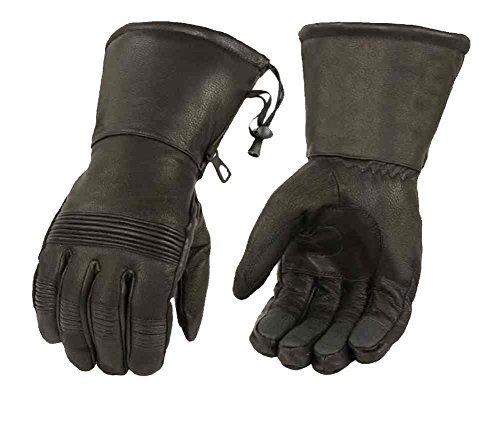 Milwaukee Leder Herren Premium Leder full-finger Stulpenhandschuhe, schwarz sh294
