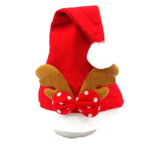 Transer® Weihnachten Elch/Hirsch Hüte Cozy Weich Warm Santa Kopfbedeckung für Weihnachten (Qualität Santa Hut)