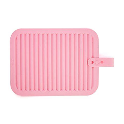 QWERWHH Isolation de Gel de silice Mat Tapis de Table Pot Bol Coussin Pad Pad Pad Pad 30 * 22cm,Pink
