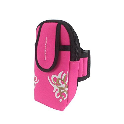 zoohot Running Gürtel, Herren Damen Fitness Gürtel & Armband Handy Tasche, Geldbeutel, Karte Tasche, Schrank Aufbewahrungstasche Oversized-Pink
