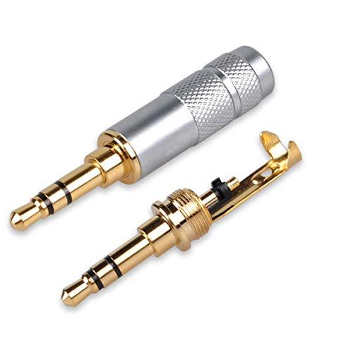 3,5mm Kopfhörer Repair Ersatz Adapter, besmelody 3,5mm Stereo Jack Männlich Anschluss 3Pole 1/20,3cm Lötversion DIY Headset Audio Kabel -