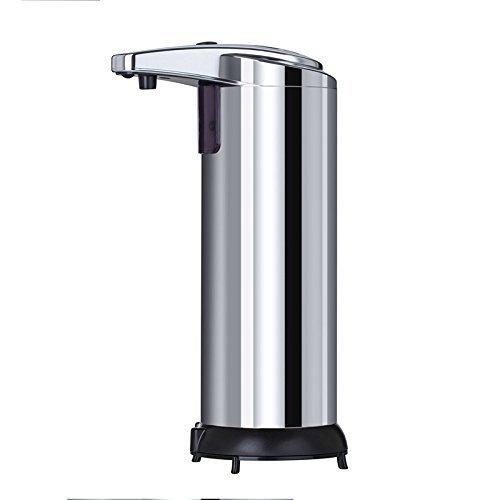 Seifenspender Automatisch, Hände frei Fingerabdruck beständig Edelstahl Seifenspender, IR Infrarot Bewegungssensor berührungslos Autosoap Dispenser für Küche Badezimmer