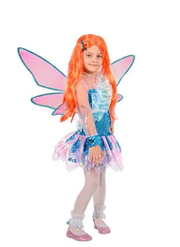 Ciao Bloom Tynix Kostüm für Mädchen, 7-9 Jahre, Blau, Rosa, - Winx Club Kostüm