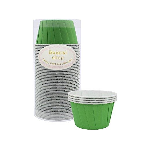 Kuchen Tasse Cupcake Fällen Liner Muffin Hohe Temperaturbeständige Backen Tassen (Grün) (Grüne Cupcake-liner)