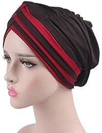 Nero Trucco Cancro Sonno iKulilky Foulard Ladies Elegant Bandana Cap Turban Pre-tie Chemise Headwear per Chemio Perdita di Capelli