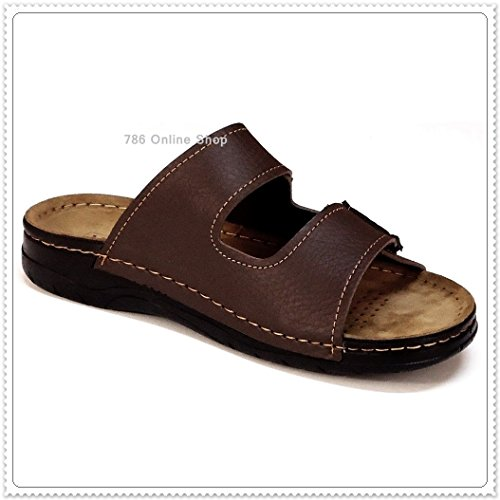 Messieurs Sabots Sabots chaussons (165B) Chaussons Mules à chaussures baskets neuf Marron - Marron
