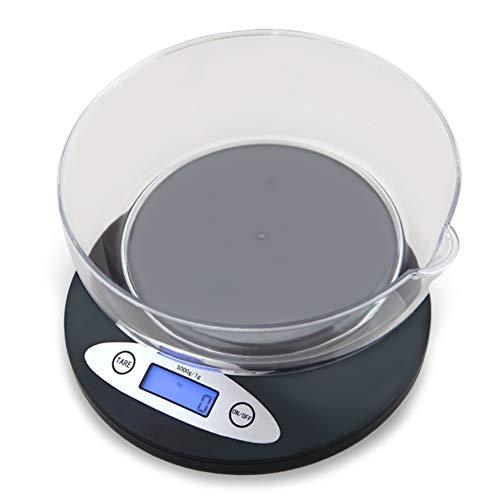 Bilancia da cucina bilancia alimentare con display lcd rimovibile per ciotola black tradition school office huyp