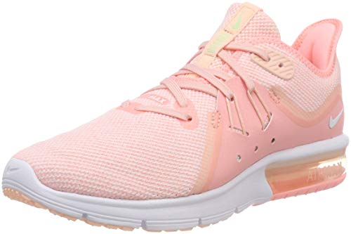 hot sale online 40e2e 0e4fc Nike Wmns Air MAX Sequent 3, Zapatillas de Running para Mujer, Rosa (Pink