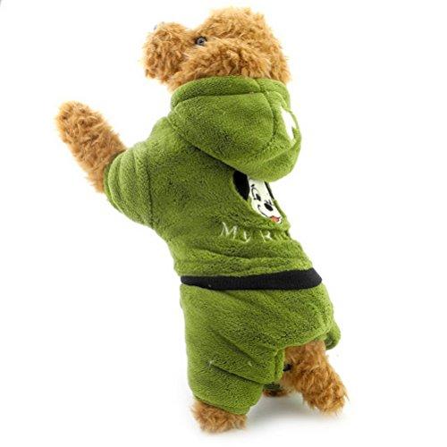 Zunea Petit Chien Vêtements pour mâle femelle d'hiver Polaire Sweat à capuche Manteau Veste avec pantalon