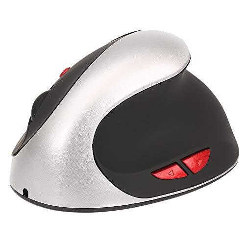 Yowablo Kabellose Maus 2.4GHz Spiel Ergonomisches Design Vertikale Maus 2400DPI USB Mäuse (Silber)
