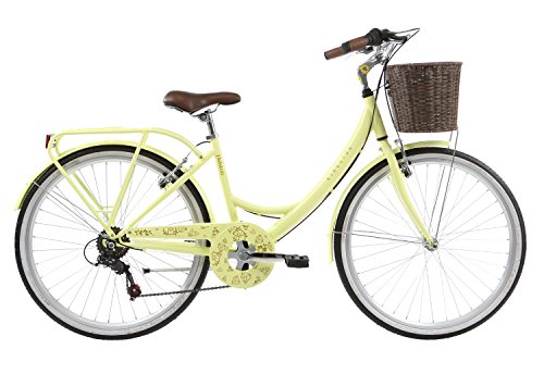 Kingston Womens Dalston Shopper Bike - Pastel Yellow (16