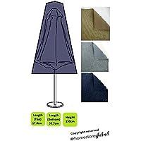 HomeStore Global, Couverture robuste pour un parasol , Épais et de haute qualité durable 600D Polyester toile avec des coutures doubles pour plus de solidité, taille: top 17,8, 59,7 x 150 bas cm de haut, charbon de
