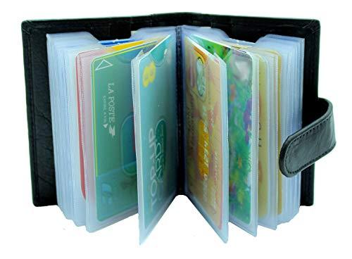 Este soporte de tarjeta de lujo con capacidad para hasta 24tarjetas. Tarjeta de Crédito Funda hecho de suave piel de napa genuino de alta calidad, con mangas de tarjeta de plástico extraíble. Tarjeta de plástico mangas tienen centro corte dedo para ...