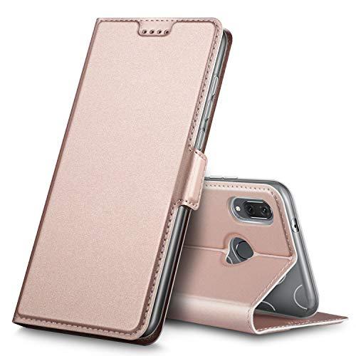 Huawei P20 Lite Hülle, Huawei Nova 3e Hülle, iBetter Premium Tasche Cover Flip Case [Magnetic Closure] [Standfunktion] Schutzhülle Handyhüllen für Huawei P20 Lite/ Huawei Nova 3e Smartphone(Rosegold)