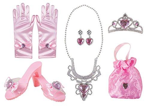 P 'tit payaso 18016estuche completo accesorios de princesa-Rosa, talla única