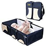 Babies Bloom Portable Multifunctional Baby Travel Bed Cot and Folding Mummy Diaper Bag