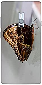 Snoogg Butterfly Blue Morpho Designer Protective Back Case Cover For One Plus...