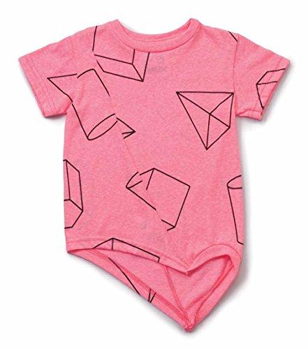 nununu T-Shirt asymetrisch pink Gr. 10-11 Y ( 140-146)