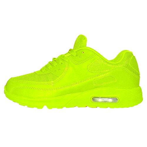 Herren Neon Sneaker Sportschuhe Fitness Freizeit LAUFTURN Schuhe Gr. 40-45 (42, Grün) (Grüne Sportschuhe)