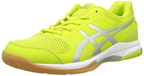 Asics Gel Rocket 8 Scarpe Sportive Indoor Uomo, Verde (Energy Green/Silver/White 7793), 40.5 EU