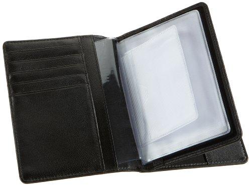 Bodenschatz Stitching 8-404 ST 01, Unisex - Erwachsene Portemonnaies 10x14x1 cm (B x H x T) Schwarz (Black)