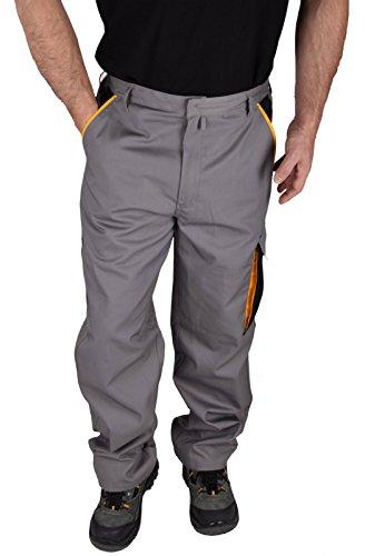 Iwea Stabile Arbeitshose Bundhose Berufshose Handwerker Cargohose Arbeitskleidung Grau IW063, 56/58 (XL)