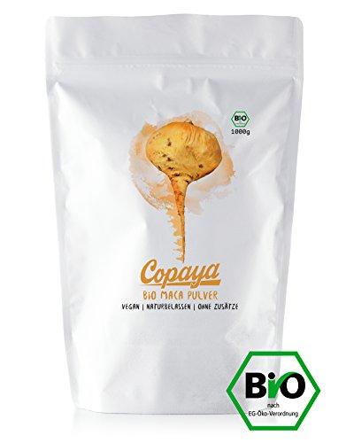 Bio Maca Pulver aus Peru | Premium Qualität aus den peruanischen Anden | Naturbelassen & Unbehandelt | Praktischer Zipper Beutel für eine lange Haltbarkeit | Frische Ernte MHD 2020 | 1000g (1kg)