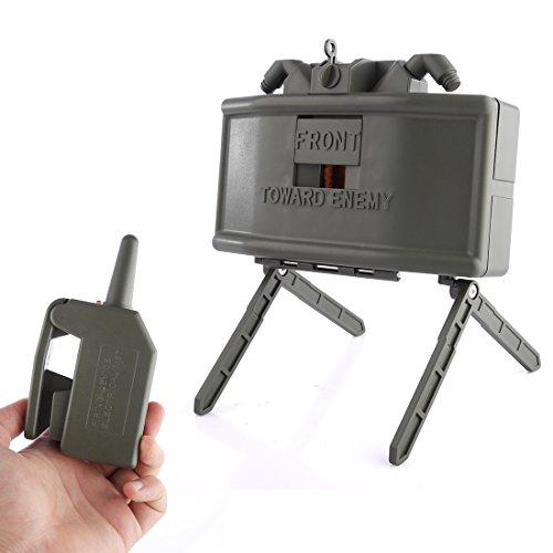 BOROK Wide Sword Remote Detonation Device Launcher Wasserbomben Claymore Landmine Ferndetonation Spielzeug Granaten Startprogramm Granatenwerfer für Nerf Spiel (Airsoft Mine)