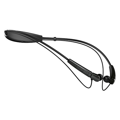 Cannice SC2101 W2 Bluetooth Kopfhörer In Ear | Kabellose 4.1 Sport Kopfhörer Stereo mit Nackenbügel | 10m Reichweite, Ultra leicht, wasserabweisend, schwarz