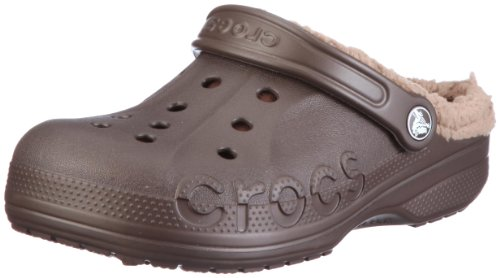 Crocs, Baya Lined Sabot U -  Zoccoli e sabot unisex per adulto, colore marrone, taglia 46-47