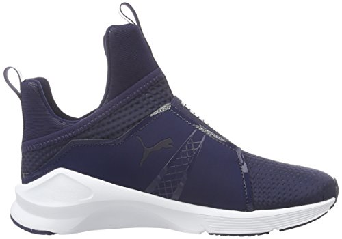 Puma Fierce Quilted, Sneakers basses Femme Bleu - Blau (PEACOAT-puma White 04)