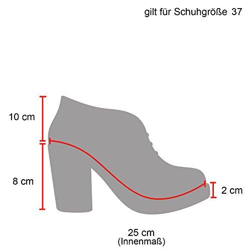 Stylische Damen Boots Stiefeletten Chelsea Boots Knöchelhohe Stiefel Zipper Leder-Optik Booties Schuhe 113520 Dunkelrot 37 Flandell