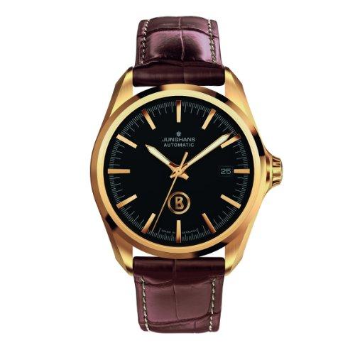 Junghans Bogner Willy Automatic 027/7281.00 - Reloj analógico automático para Hombre, Correa de Cuero Color marrón (Agujas luminiscentes)