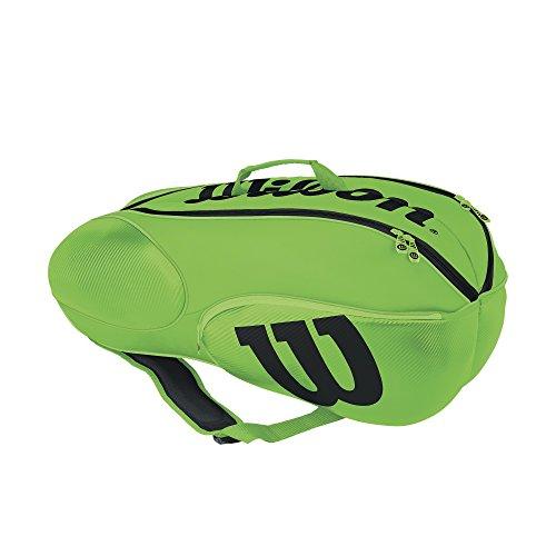 Wilson Sporting Goods Mini Vancouver 6Pack Tennis Bag, grün/schwarz