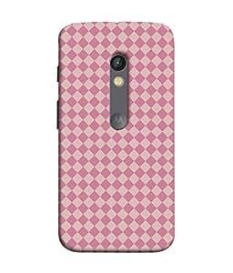 PrintVisa Designer Back Case Cover for Motorola Moto X Play (Checks Square Designer Diamond Blocks Bedsheet Wallpaper Poster Pattern)