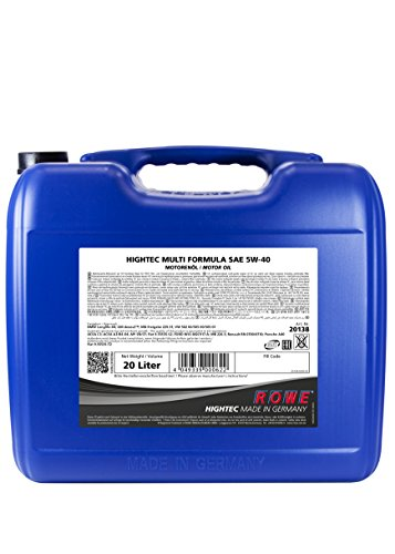 ROWE Hightec Multi Formula SAE 5W-40 - 20 Liter PKW Motoröl, vollsyntethisch (HC-Synthese)| Made in...